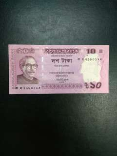 Bangladesh 10 Taka 2012 issue