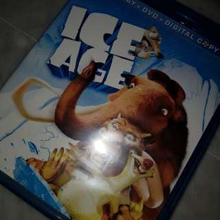 ice age movie blu-ray + dvd disks