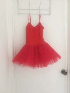 Children's red ballerina tutu