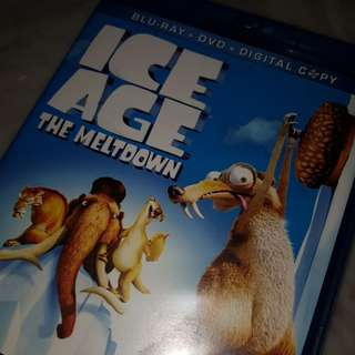 ice age - the meltdown movie blu-ray + dvd disks