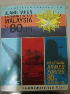 Malaysia commemorative coin card ATM80years