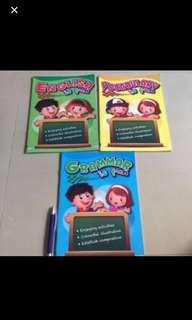 Set of 3 Kindergarten workbooks English
