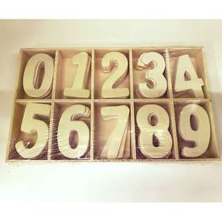 Wood Numbers / Wooden Numeric Letters