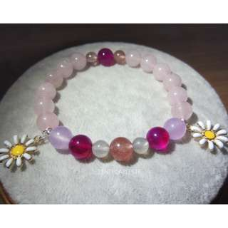 Bracelet : Gemstone quartz ~Flower~