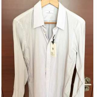 Jill Sander x Uniqlo +J   White / Blue Shirt