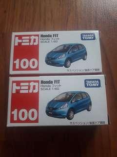 Tomica Honda Fit Blue #100