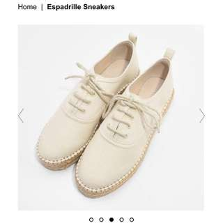 Charles & Keith espadrilles platform flatform cream shoes
