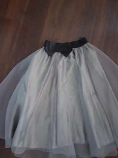 Tulle Skirt grey (free size)