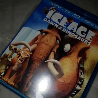 ice age - dawn of the dinosaurs movie blu-ray + dvd disks