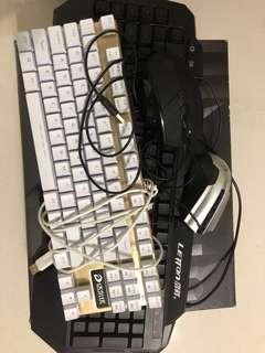 Gaming mouse & keyboard