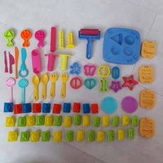 Play Doh Toys - Cooking Set and Alphabet Set