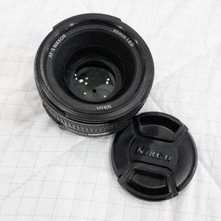 Prime Lens Nikon AF-S NIKKOR 50mm f1.8g