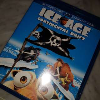ice age - continental drift movie blu-ray + dvd disks