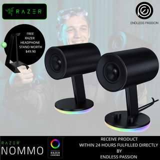 Razer Nommo Chroma Full range 2.0 gaming speakers for PC