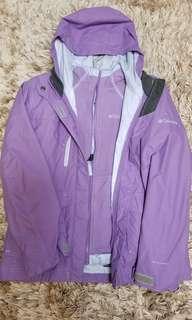 Columbia 紫色風褸連雙面夾綿外套