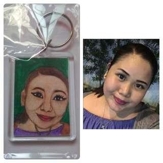 Handpainted Portrait Keychain