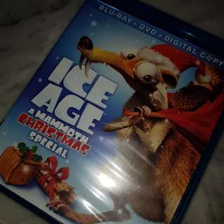 ice age - a mammoth christmas special movie blu-ray + dvd disks