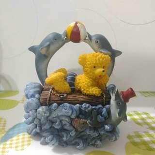 🚚 立體小熊海豚小型擺飾(可收納小東西)