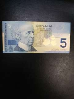 Canada 5 dollars  2002 issue