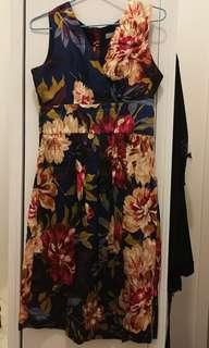 Stefanel floral dress size s
