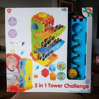 5 IN 1 TOWER CHALLENGE TOY CAR