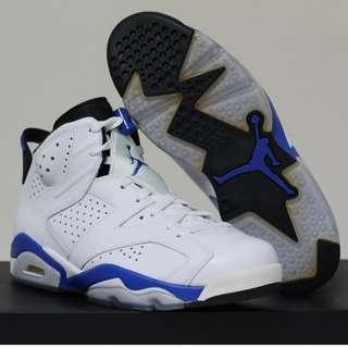 Size 9.5 - Nike Air Jordan VI retro White Blue DS BNIB