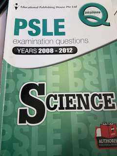 PSLE Science examination questions 2008 - 2012 (*Free)