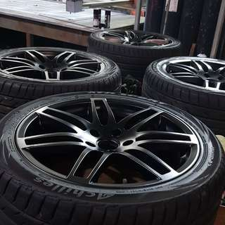 """18"""" rim and tyre"""