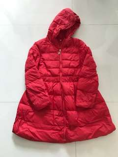 Girls red winter down jacket