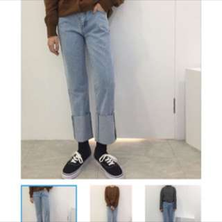 Room4 淺色直筒褲