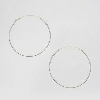 ASOS Kingsley Ryan Sterling Silver 35MM Hoop Earrings