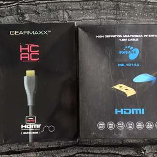 全新 HDMI cable 2條