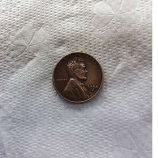 1954 D Lincoln Wheat One Cent