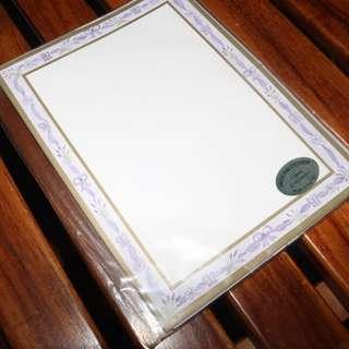 UNOPENED Lavender Letter Set