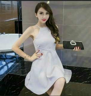 Light purple halter dress