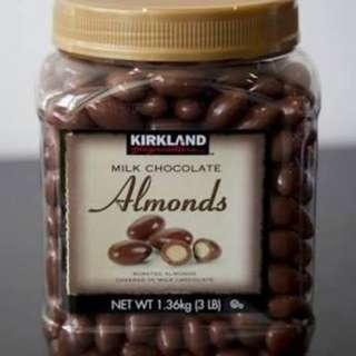Kirkland milk chocolate almonds 1.36kg