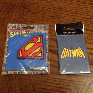 Superman and Batman magnet set