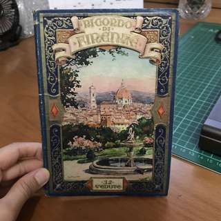 Antique Firenze (Florence) Italy history book Collectible