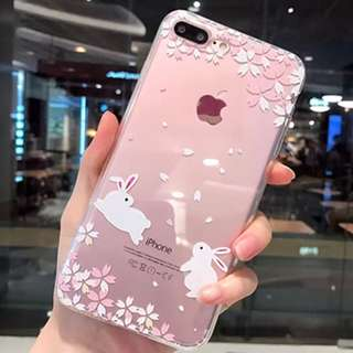 Iphone case Sakura bunny 6, 6+ 7, 7+