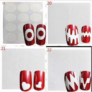 Optional Beauty Tools Nail Art French Sticker Decorations Guider Tips Cute DIY Stencil Designs Manicure Decorations FJ01-22