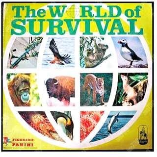 FIGURINE PANINI「The World of Survival」益智集圖冊貼紙(共四張)懷舊玩具