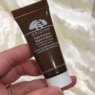 ORIGINS HIGH POTENCY NIGHT-A-MINS MINERAL ENRICHED RENEWAL CREAM 15ml