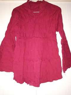 Baju Panjang Merah