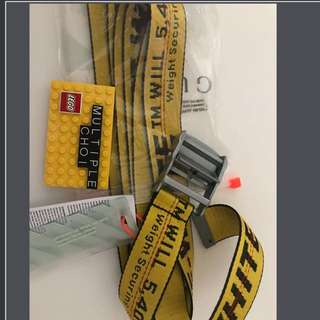 Off white belt 200cm