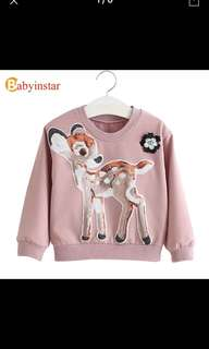 Girls sequined Bambi sweat shirt