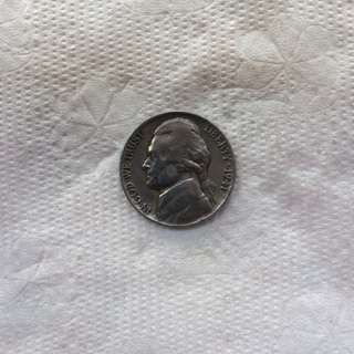 1941 US Nickel Rare