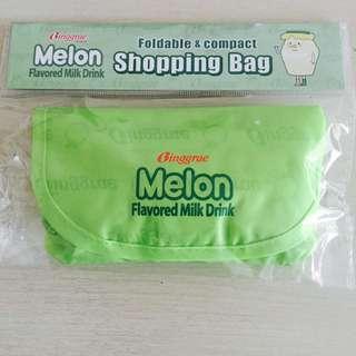 Korean Binggrae Melon Milk foldable shopping bag pouch