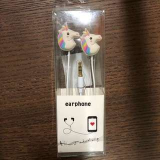 Rainbow unicorn earphones