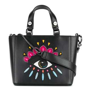 Kenzo Black  Eye Shoulder Bag