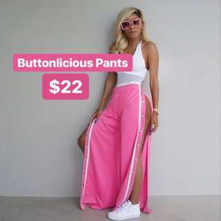 PREORDER Buttonlicious Pants — Pink